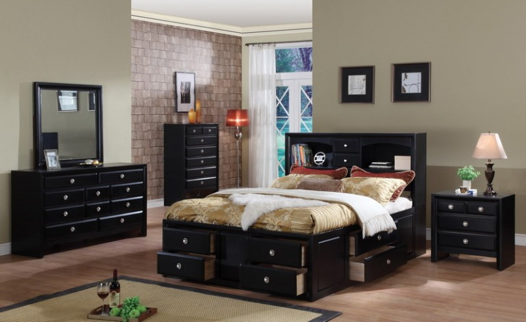 black bedroom furniture what color walls photo - 2