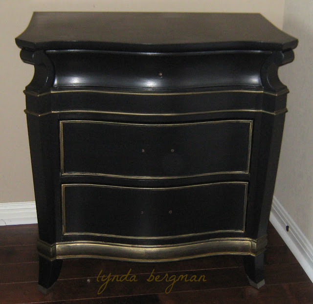 black bedroom furniture with gold trim photo - 3