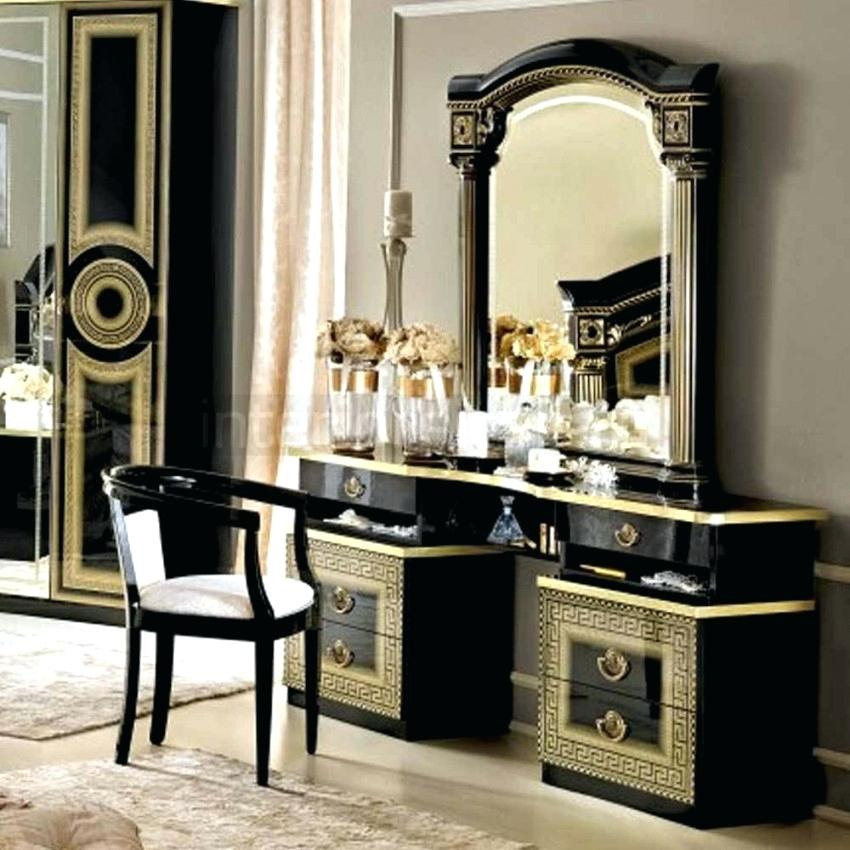 black bedroom furniture with gold trim photo - 9