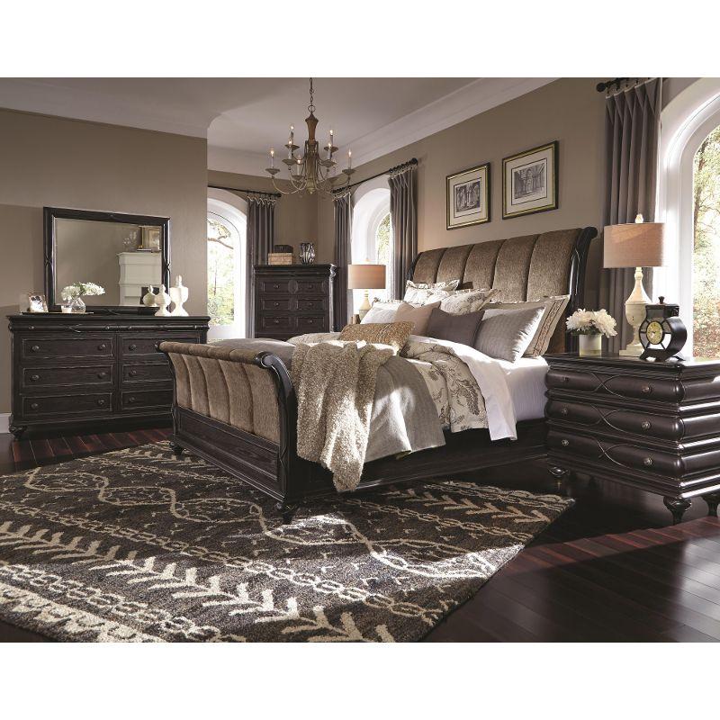 Black California King Bedroom Furniture Sets