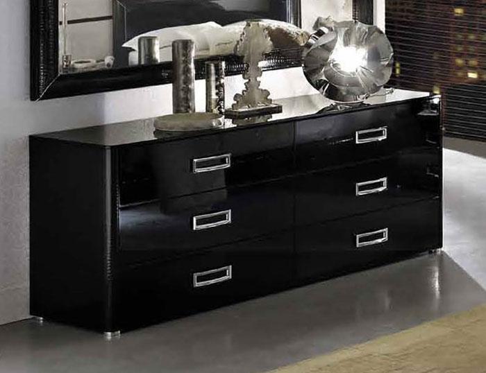 High Gloss Black Dresser