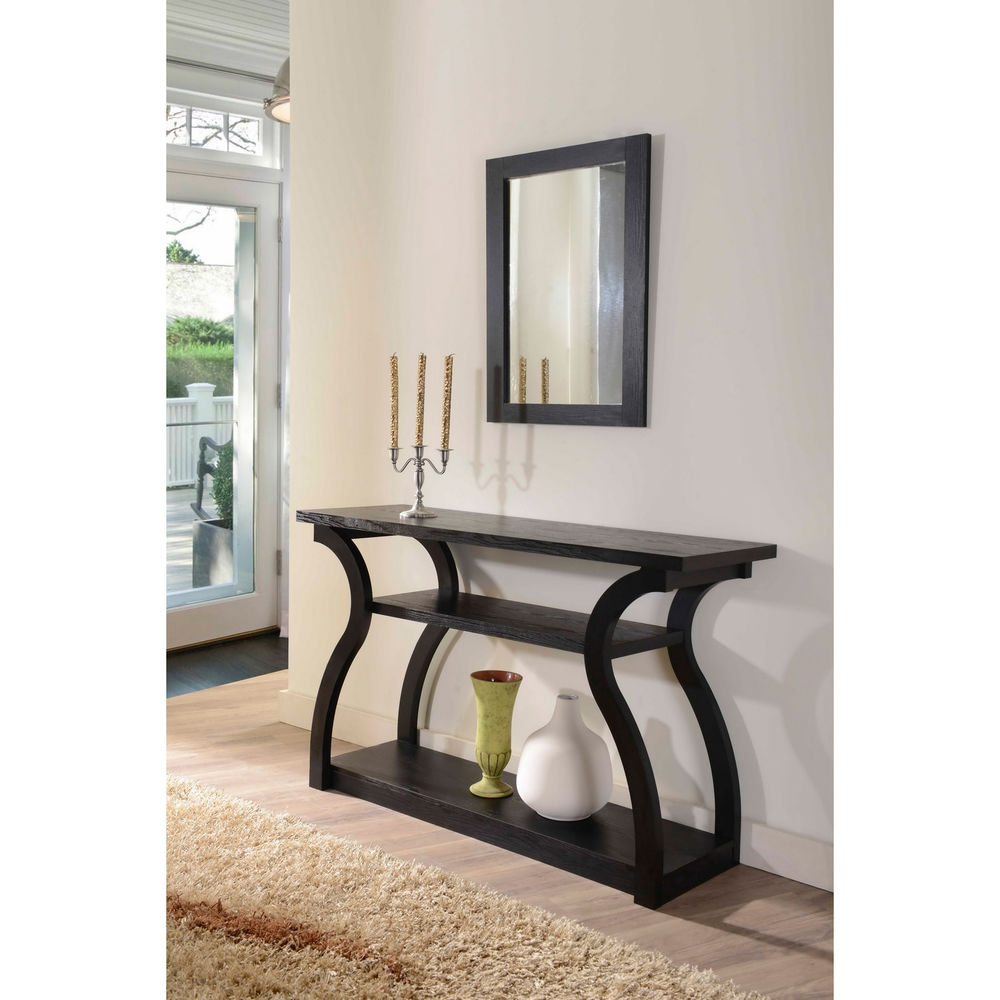 black finish sofa table photo - 2