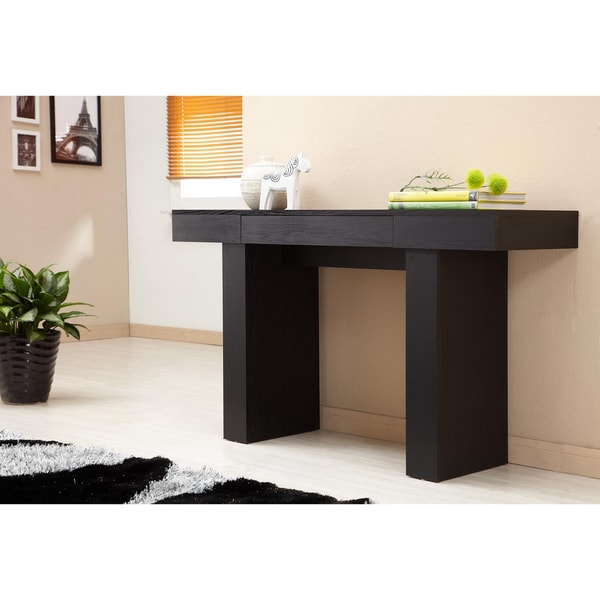 black finish sofa table photo - 3