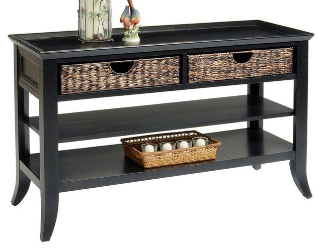 black finish sofa table photo - 4