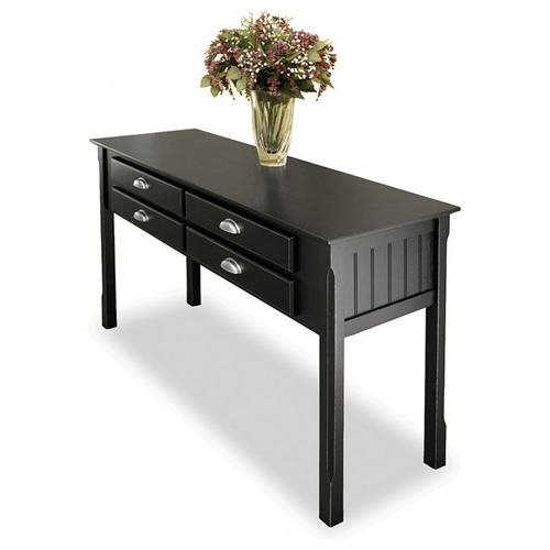 black finish sofa table photo - 6