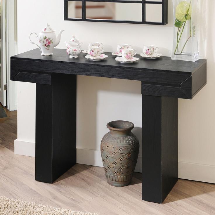 black finish sofa table photo - 8
