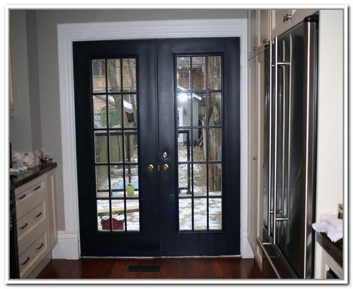 black french doors exterior photo - 1