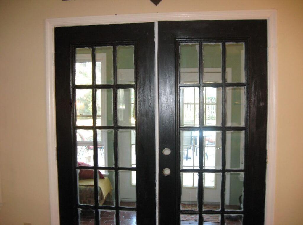 black french doors exterior photo - 2