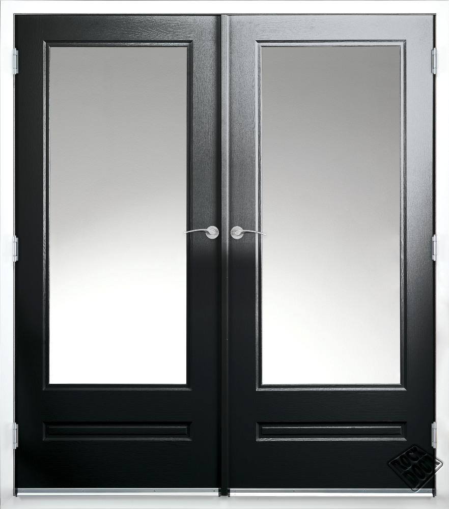 black french doors exterior photo - 4
