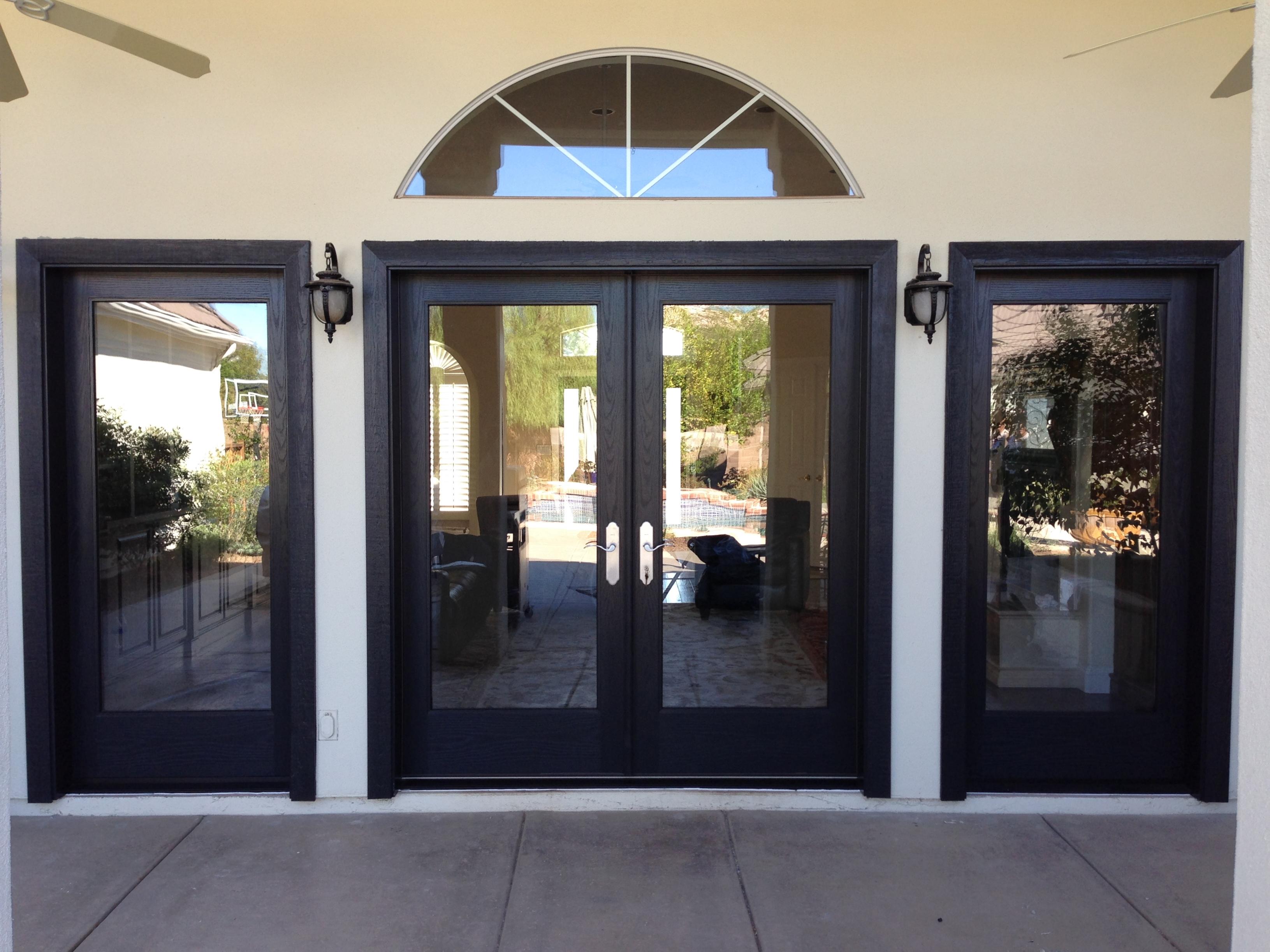 black french doors exterior photo - 5