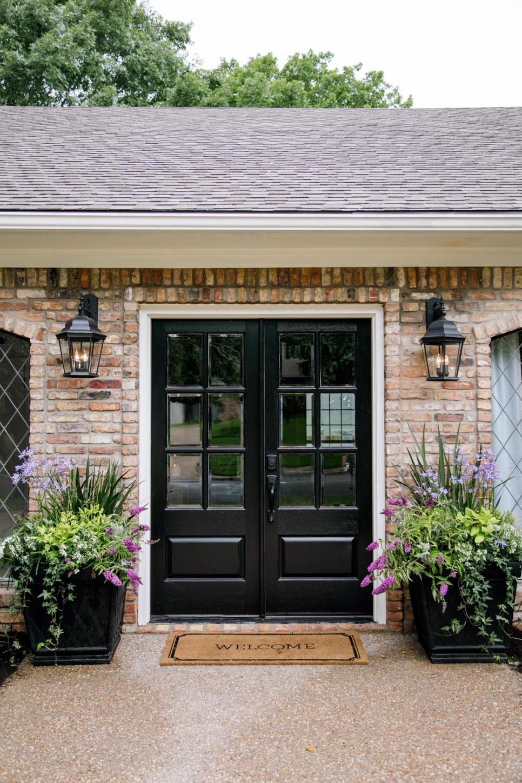 black french doors exterior photo - 6