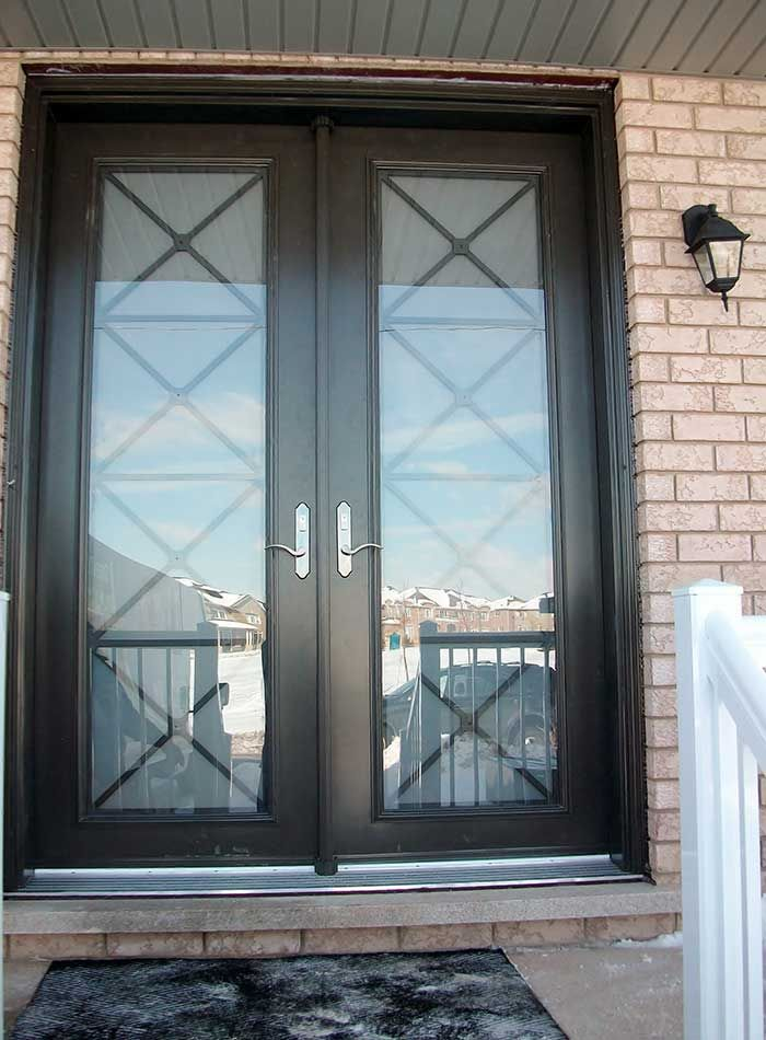 black french doors exterior photo - 7