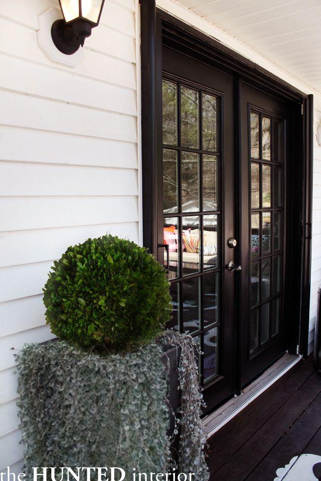 black french doors exterior photo - 9