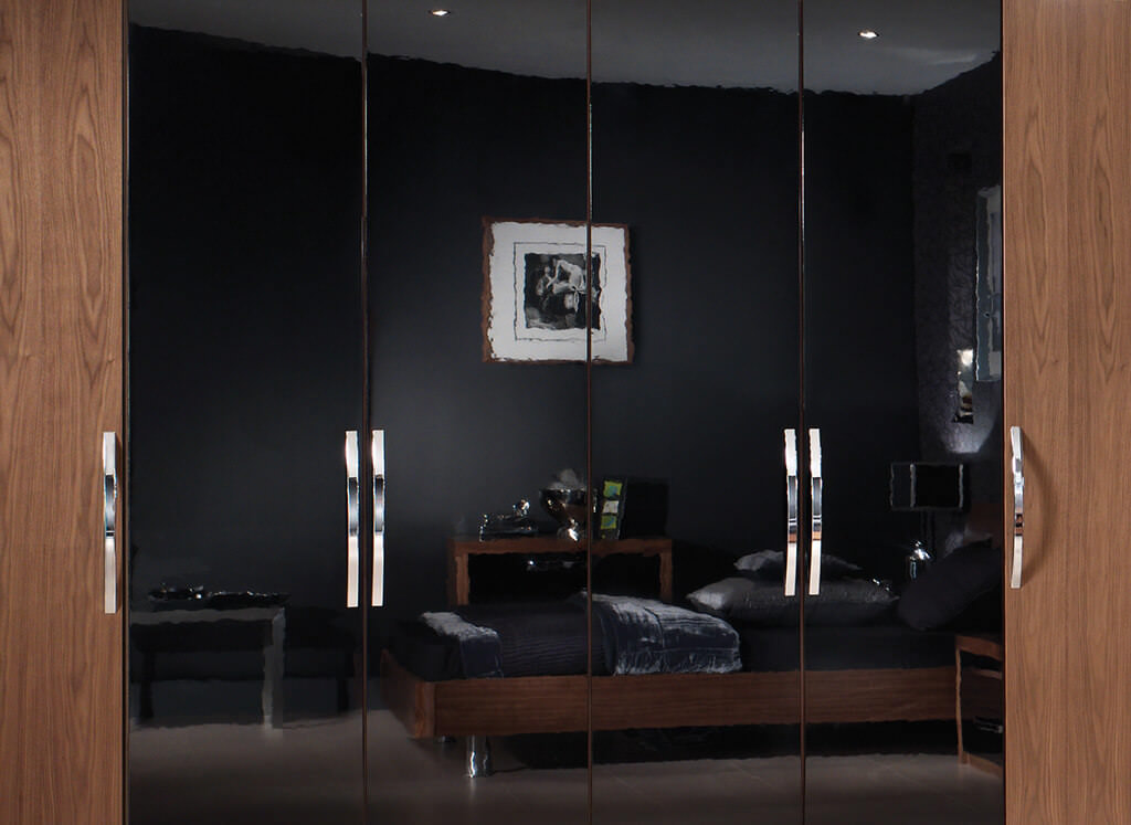 black gloss bedroom design photo - 7