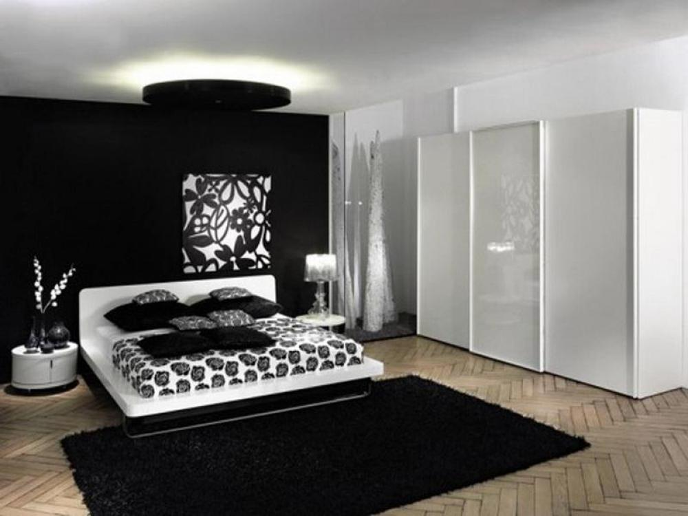 black gloss bedroom design photo - 9