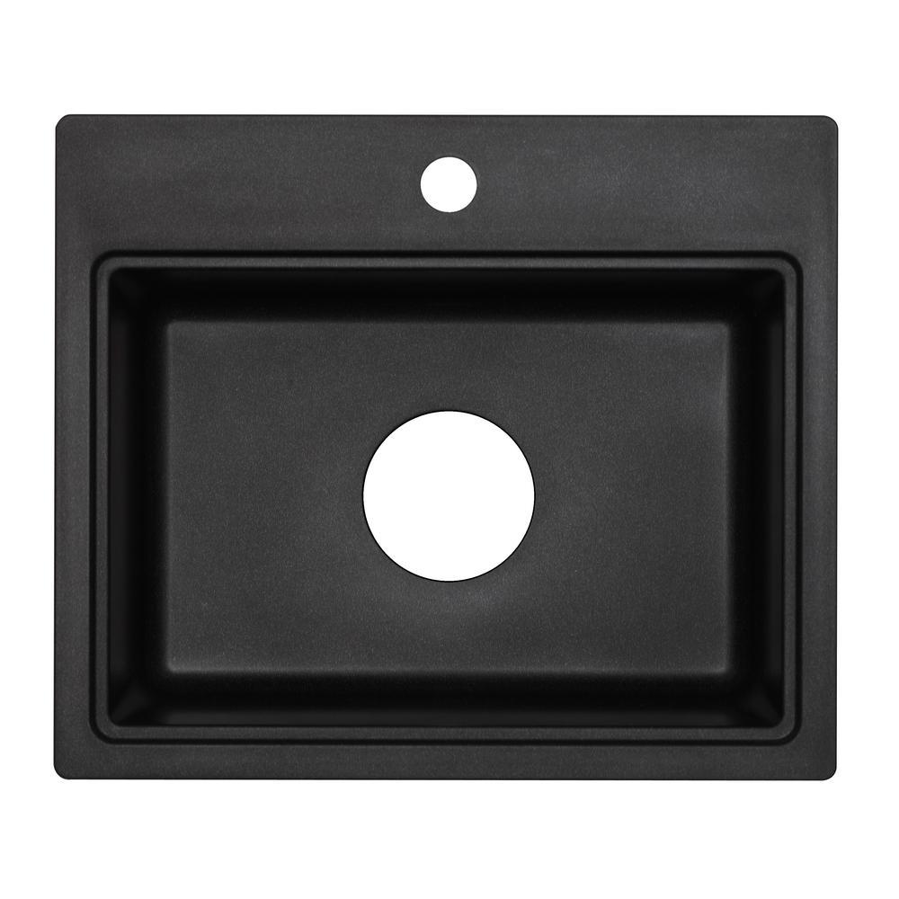 black granite bar sink photo - 10