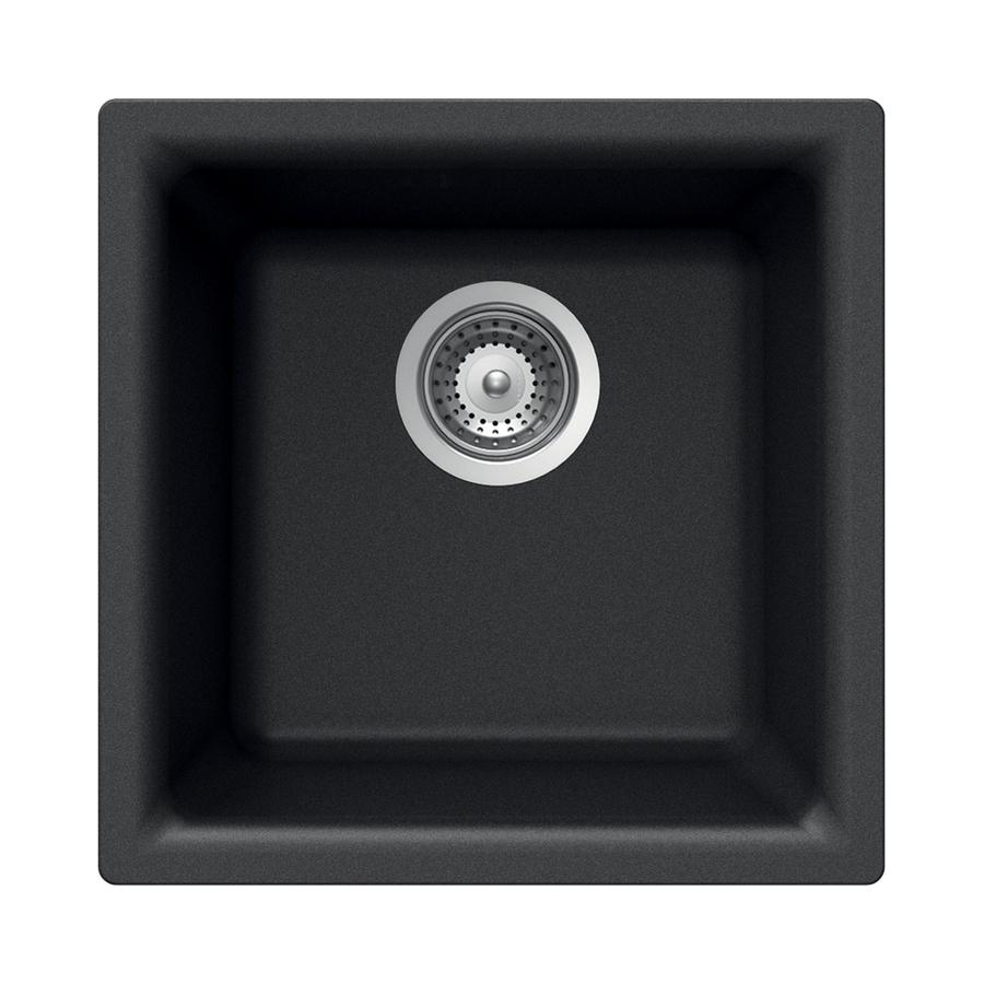 black granite bar sink photo - 2