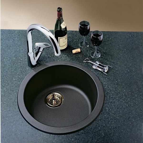 black granite bar sink photo - 6