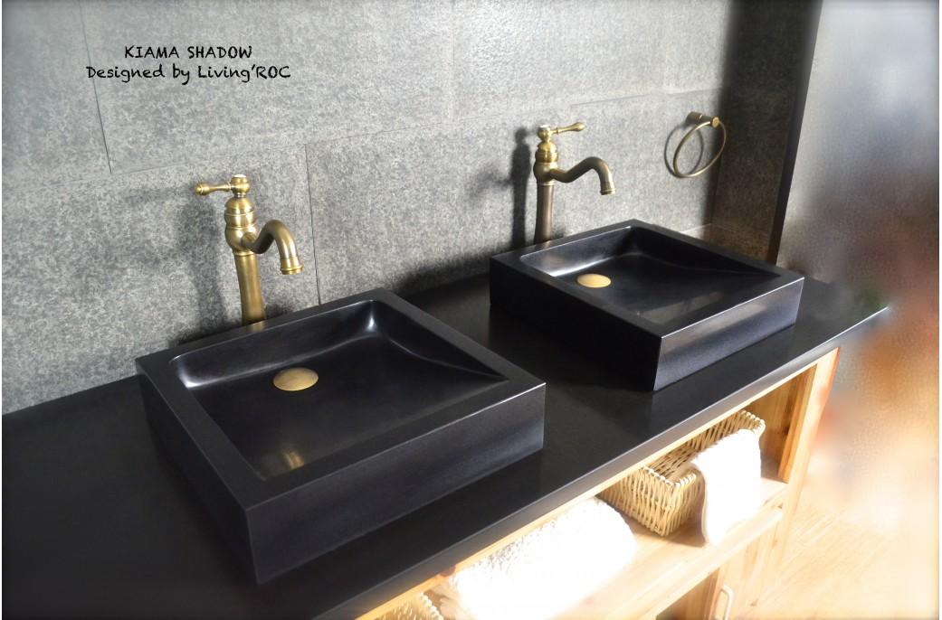 black granite bathroom sink photo - 10