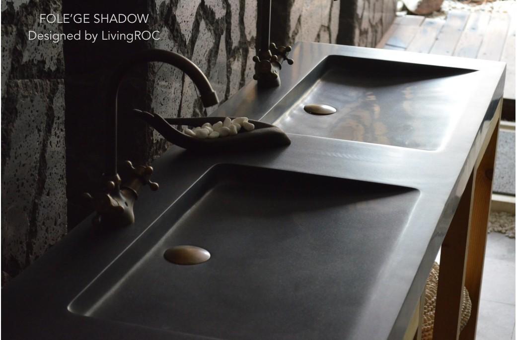 black granite bathroom sink photo - 2