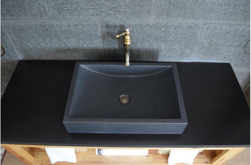 black granite bathroom sink photo - 8