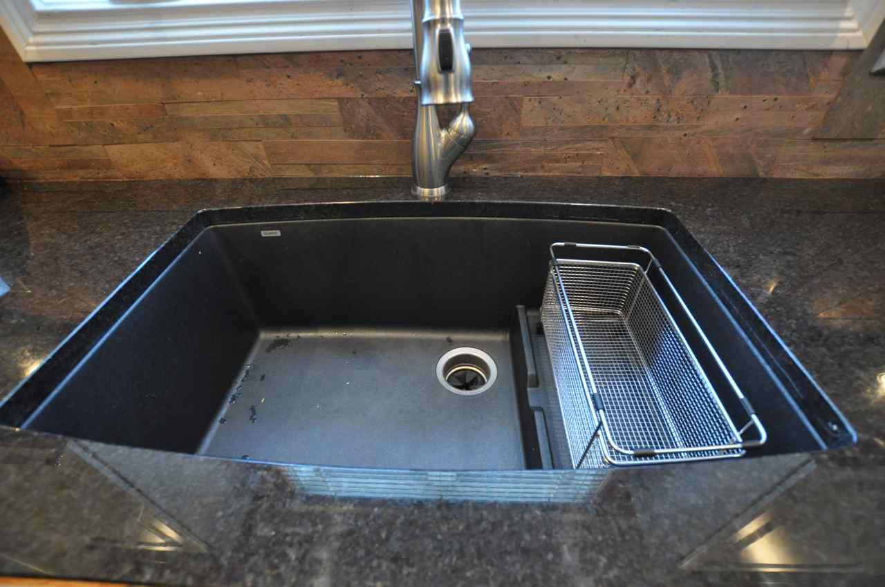 Black granite composite sink care | Hawk Haven