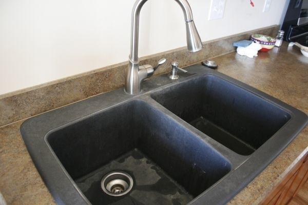 black granite composite sink care photo - 2