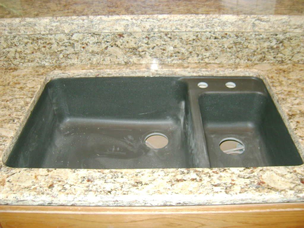 black granite composite sink care photo - 3