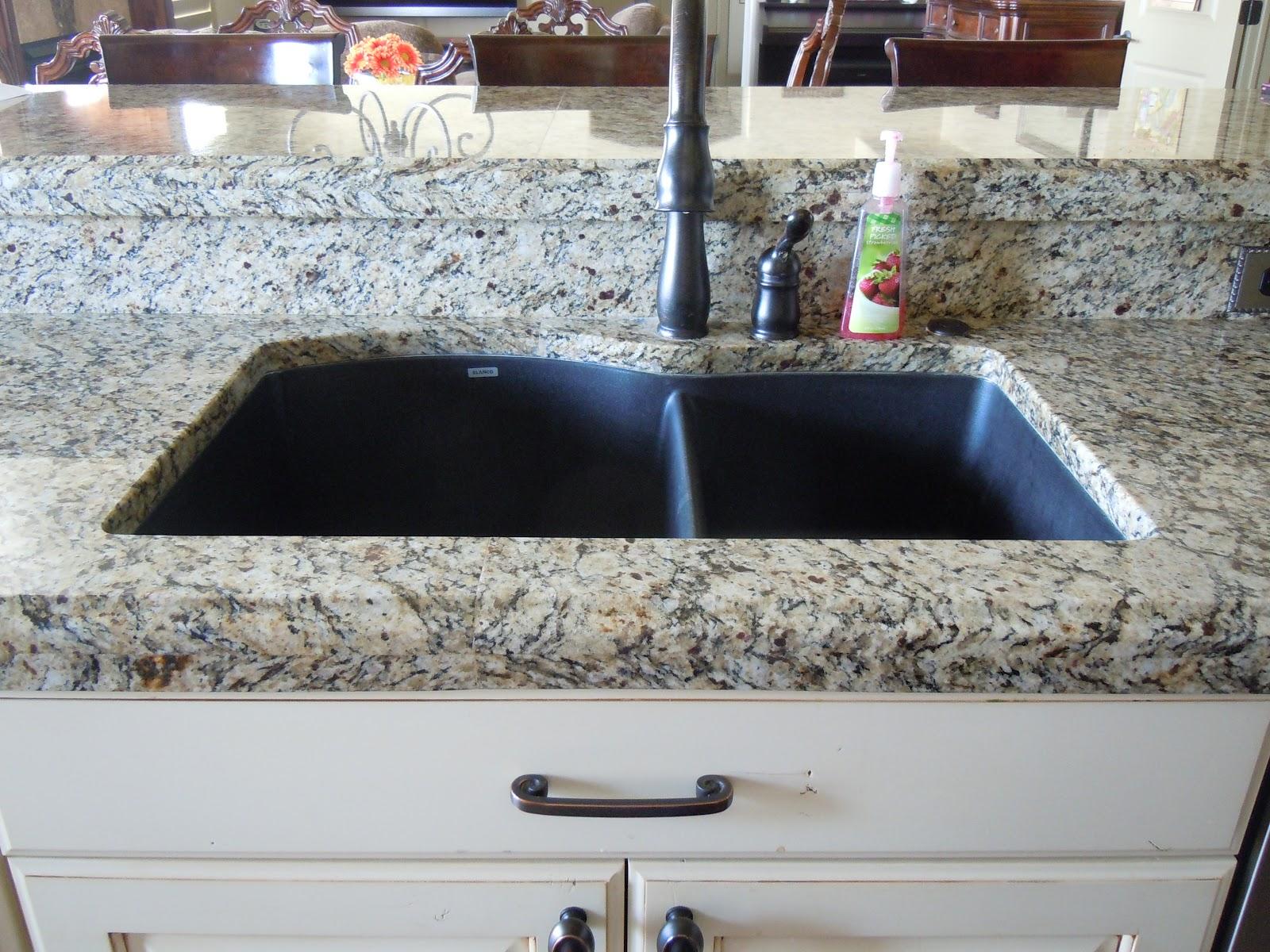 black granite composite sink care photo - 4