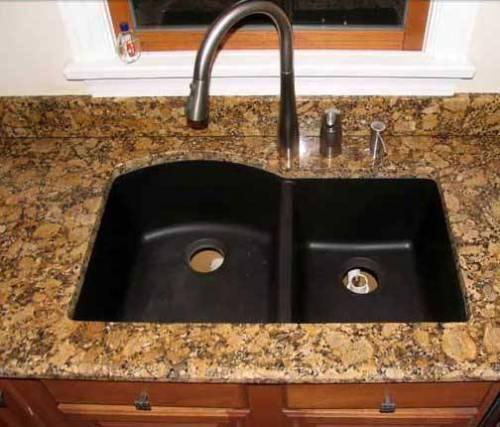 black granite composite sink care photo - 5