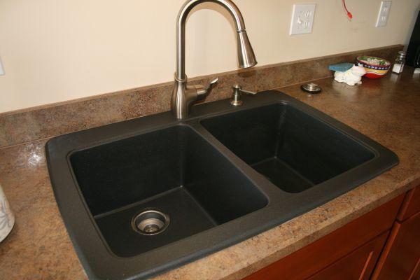 black granite composite sink care photo - 6
