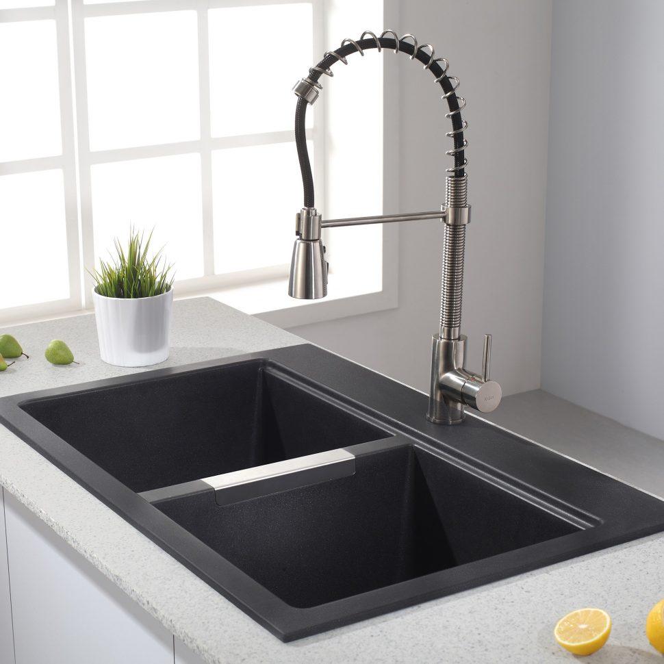 black granite composite sink care photo - 7