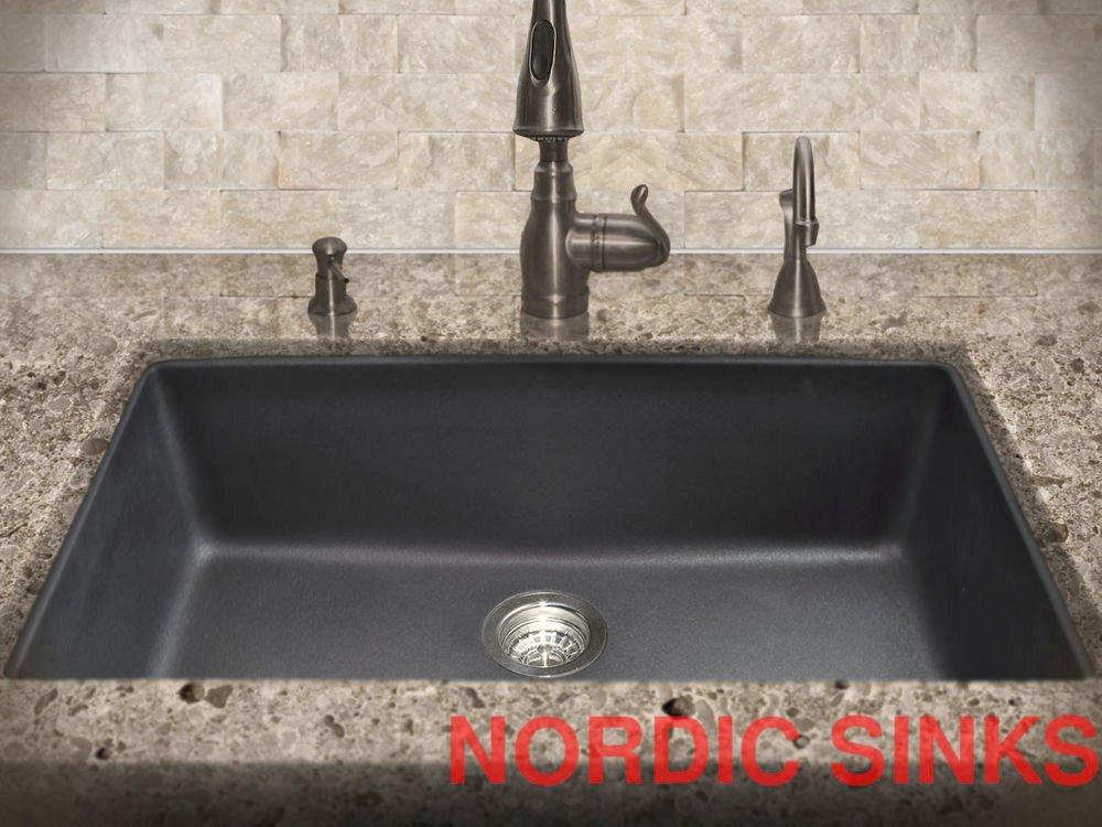 black granite composite sink care photo - 8
