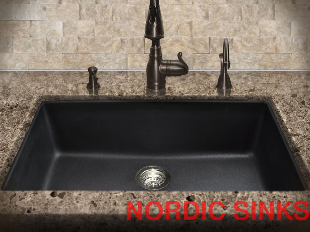 Black granite sinks kitchens | Hawk Haven