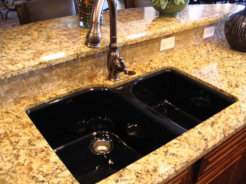 black granite sinks kitchens photo - 10