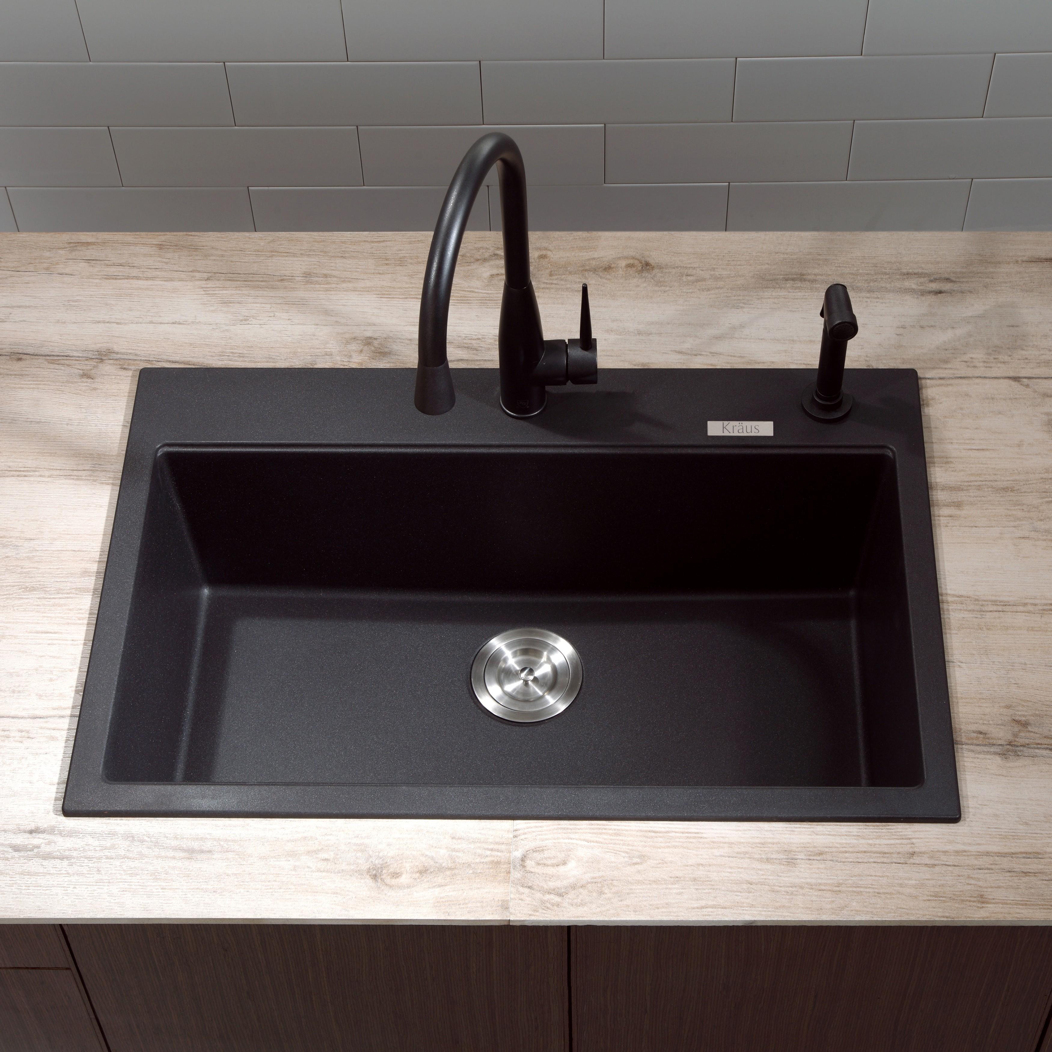black granite sinks kitchens photo - 7