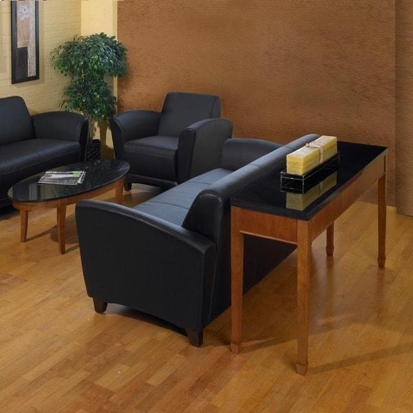black granite sofa table photo - 10