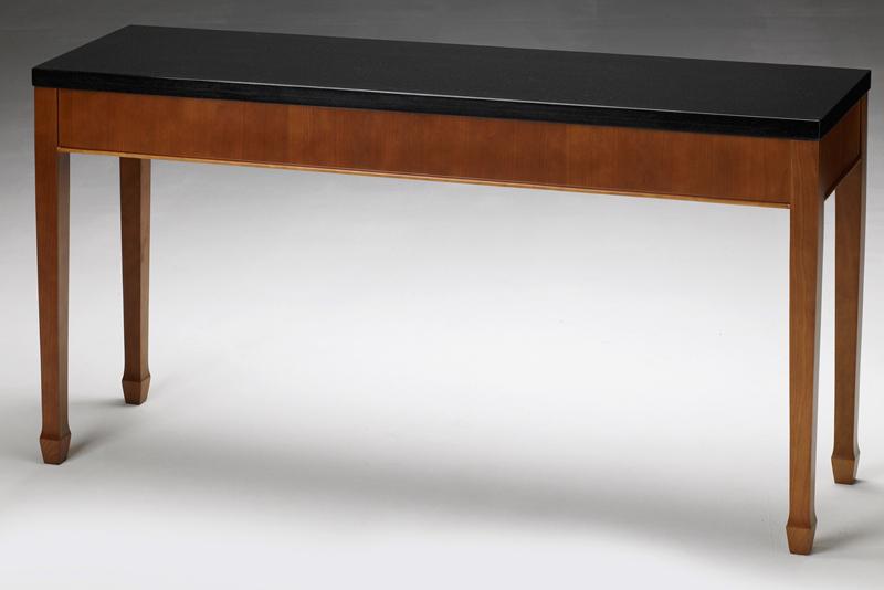 black granite sofa table photo - 4