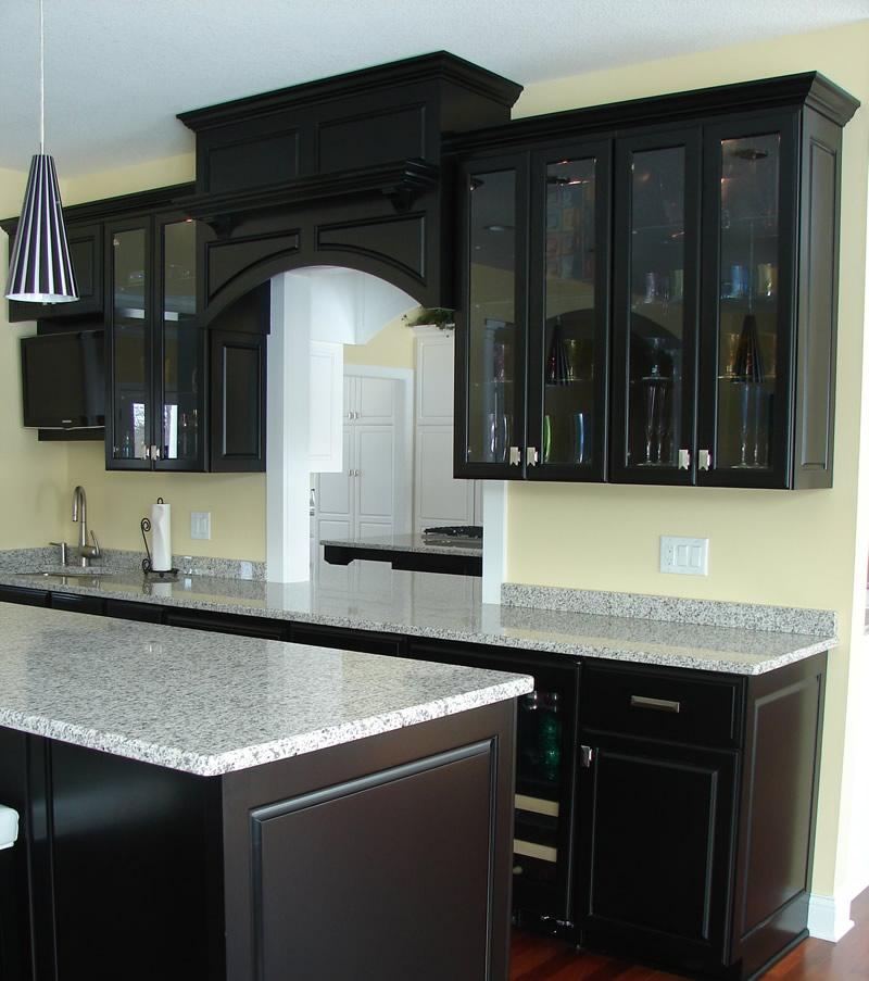 black kitchen cabinets photo - 3