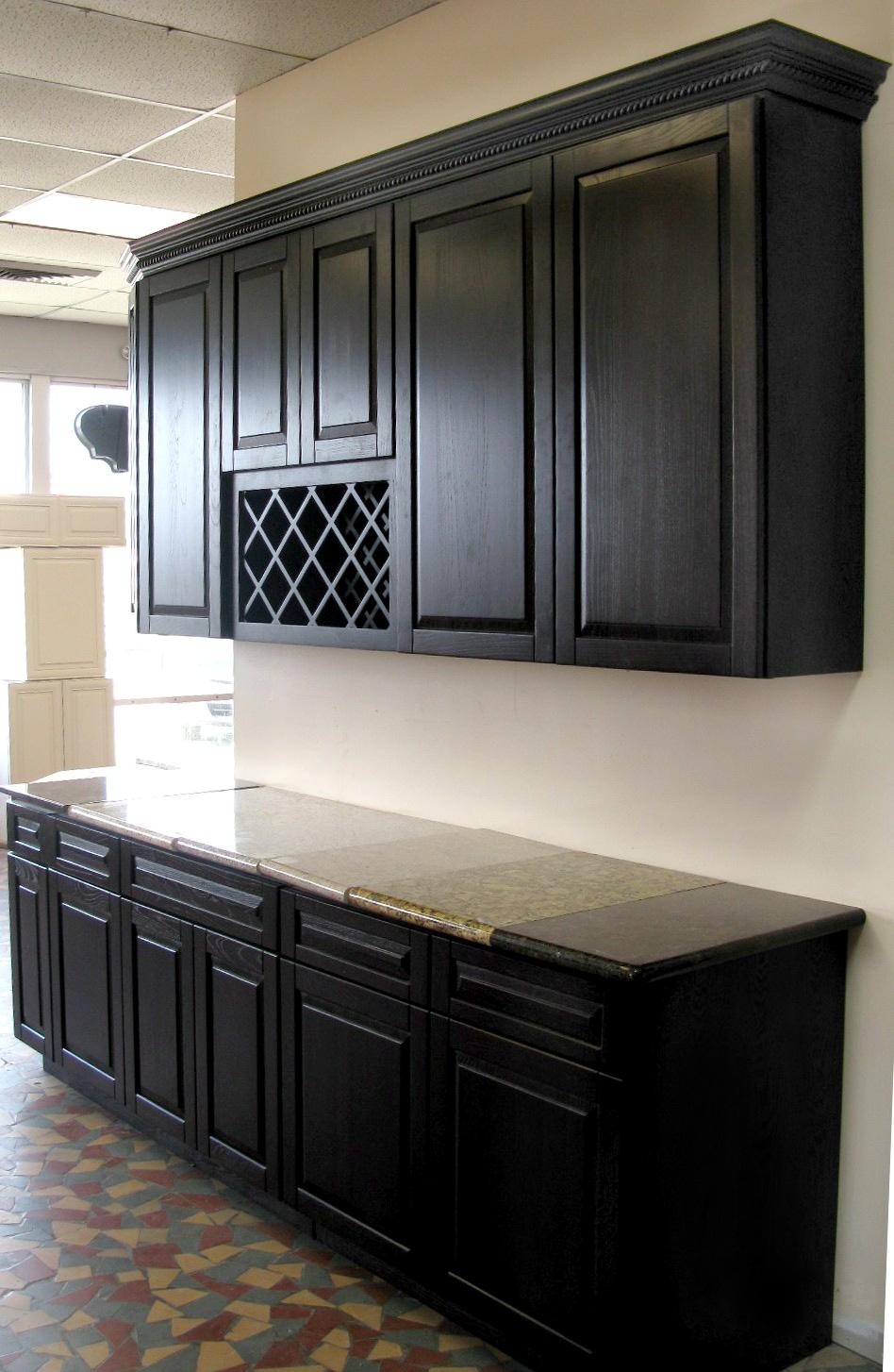 black kitchen cabinets photo - 7