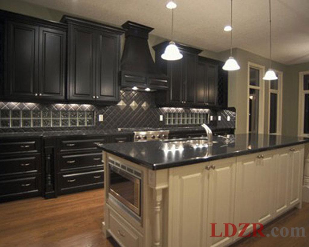 black kitchen cabinets photo - 9