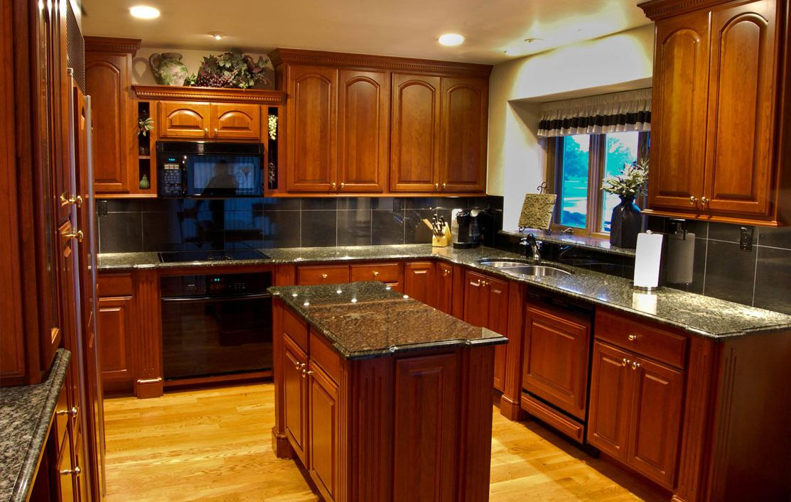 Kitchen Cabinets And Countertops : Black kitchen cabinets and granite countertops hawk haven