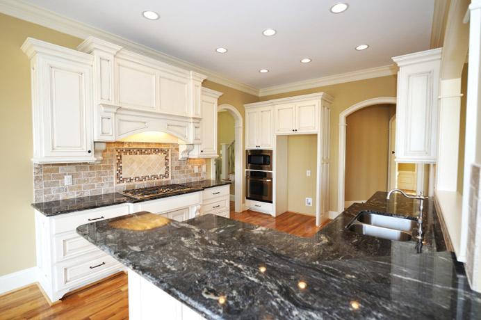 black kitchen cabinets and granite countertops photo - 3