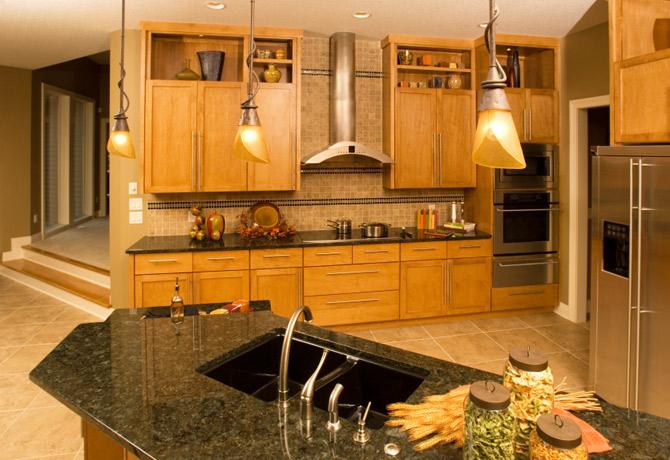 black kitchen cabinets and granite countertops photo - 6