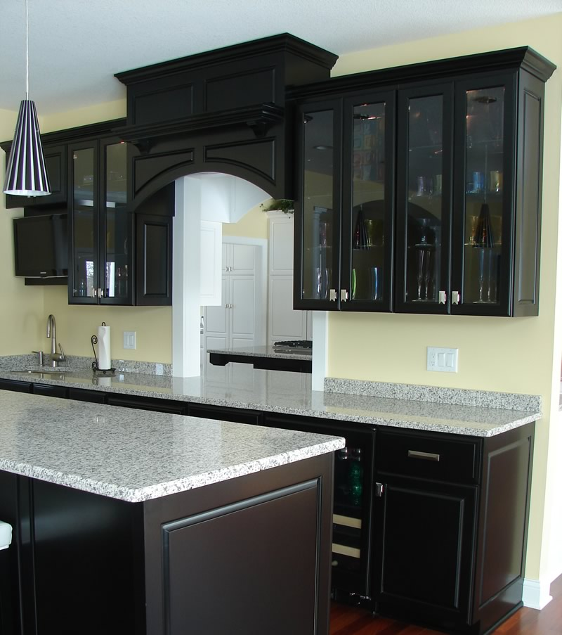 black kitchen cabinets images photo - 3