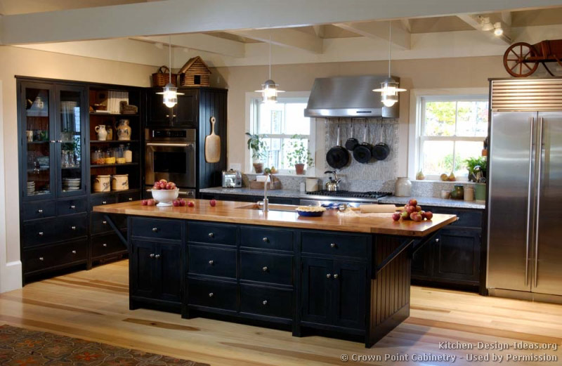 black kitchen cabinets images photo - 6