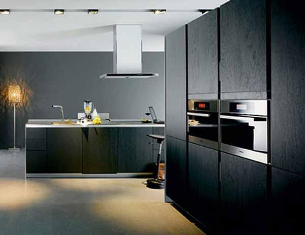 black kitchen cabinets images photo - 7