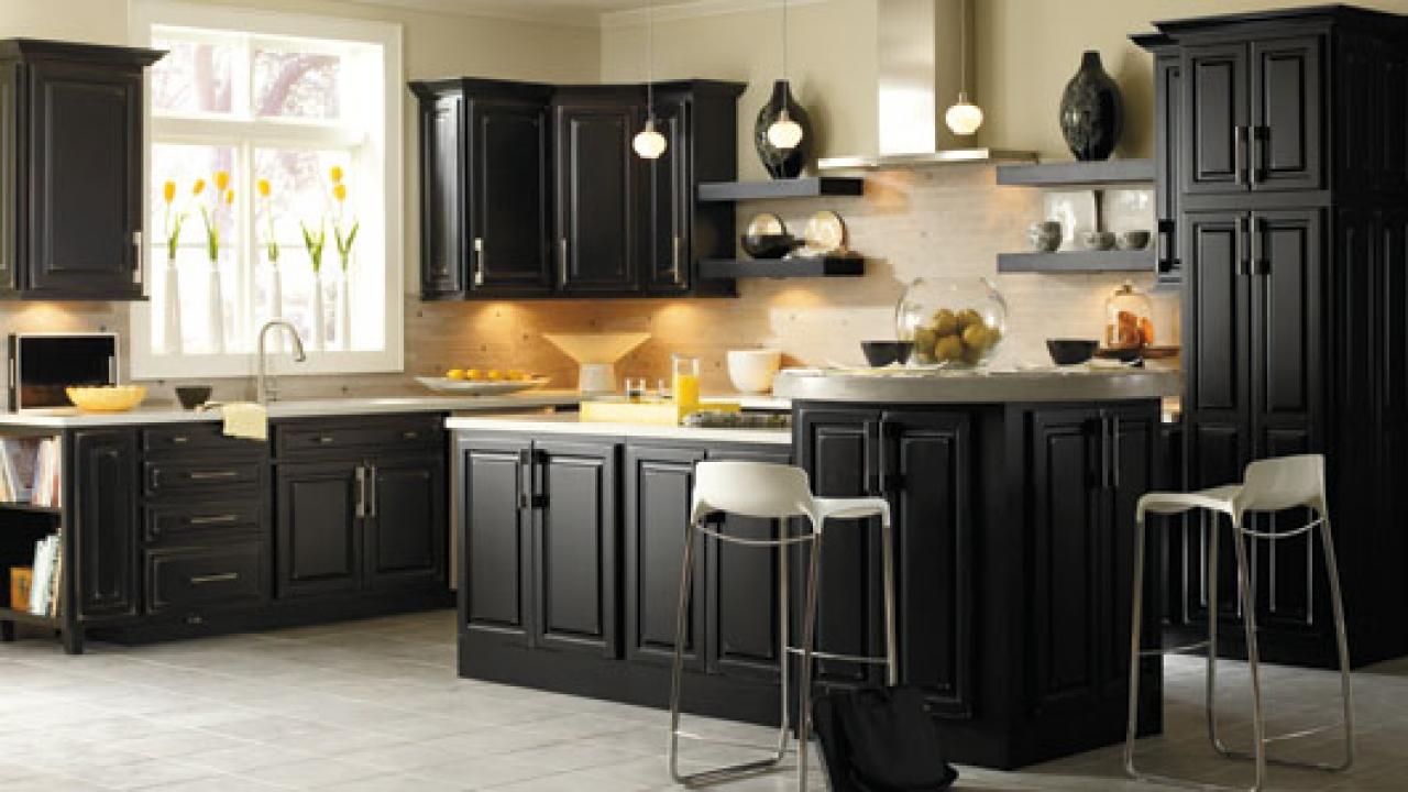 black kitchen cabinets knobs photo - 3
