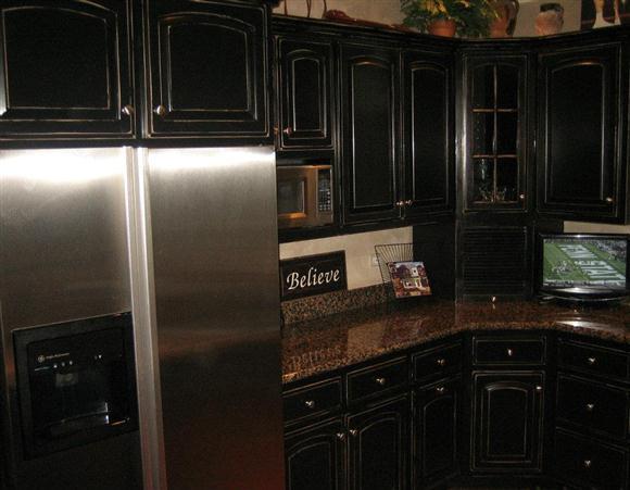 black kitchen cabinets knobs photo - 4