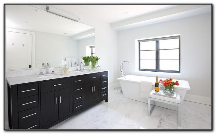 black kitchen cabinets with glass inserts photo - 5